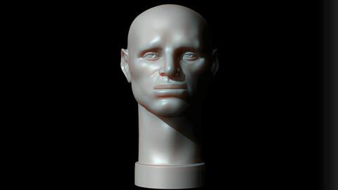 Male Head - John Asaro