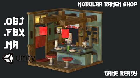 Modular Ramen Shop Game Ready