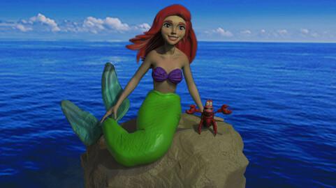 Ariel The Little Mermaid 3d Print