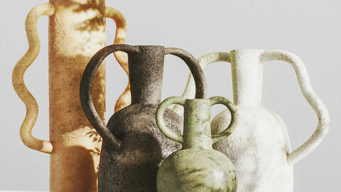 SET of VASES WITH HANDLES by ZARA HOME