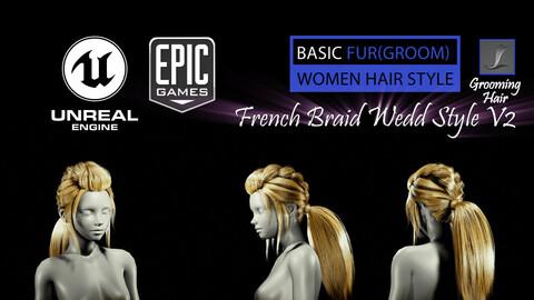 French Braid Ponytail Wedd Style V2 (Groom) For UE4