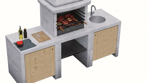 Melody Barbecue Grill Set (1 Barbecue)