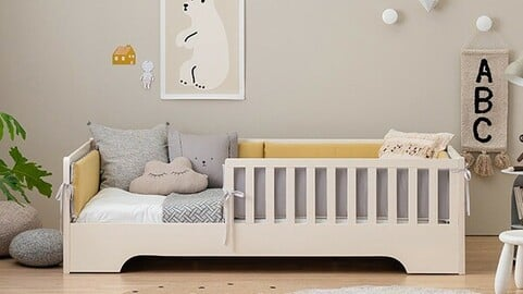 Scandic Coco solid wood low bed