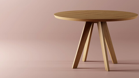 Round Table - CENA By Zeitraum - Replica 3D model