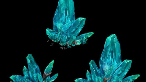 Large crystal - gravel 02