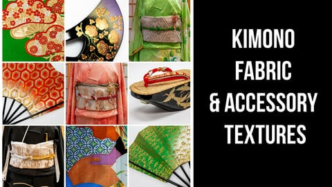 KIMONO FABRIC & ACCESSORY TEXTURES