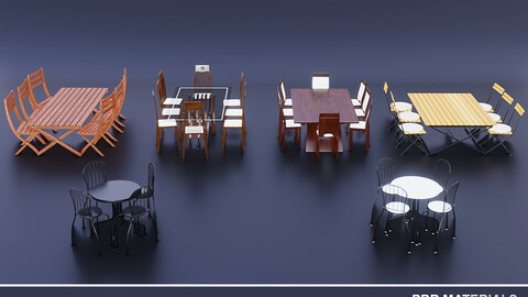 5 Dining Tables Pack + An Extra 4 Seat Table
