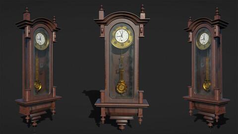 Old Clock, 3D Grandfather Clock