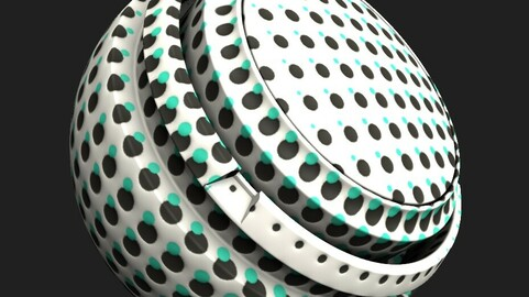 Turquoise and black dots