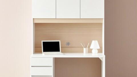 DK8937 Retro 4 drawer chest upper desk set 1200