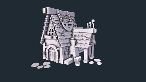 IMM Hay and Tiles Roof Brush Zbrush