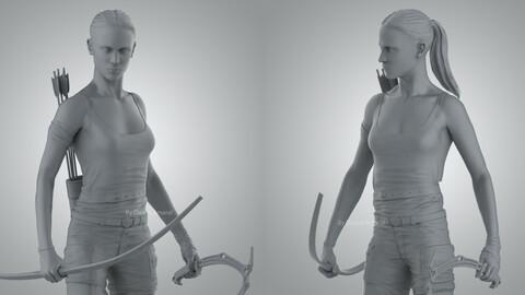 Alicia Vikander Tomb Raider 3D Printable Model