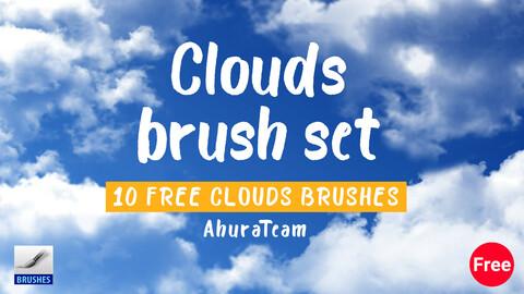 Clouds brush set (Free)