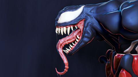 Venom x Cube Miniature sculpt 3D print model