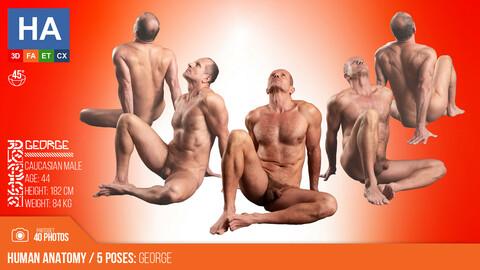 Human Anatomy | George 5 Various Poses | 40 Photos
