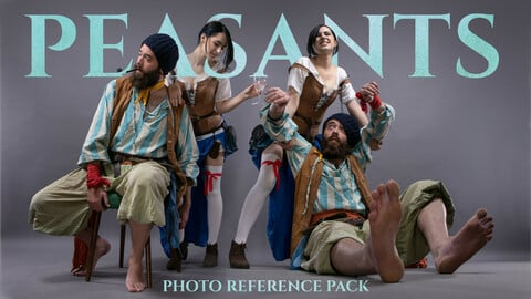 Peasants vol.1 Photo Reference Pack For Artists 434 JPEGs