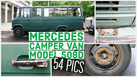 Mercedes Camper Van, model 508D, 54 reference images