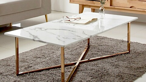 Rotique Marble Sofa Table