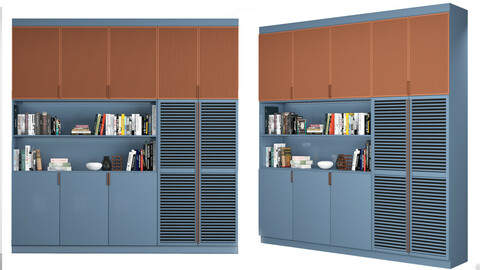 Cabinet with shelves 01