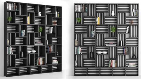 Rack and Bookcase 03