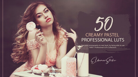 50 Creamy Pastel LUTs and Presets Pack