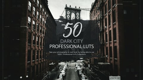 50 Dark City LUTs and Presets Pack