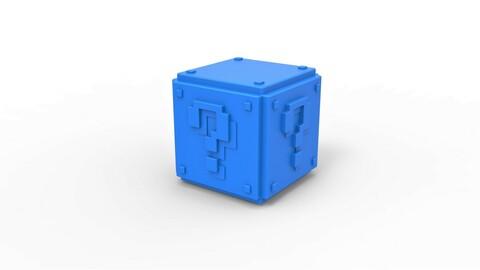 Cosplay 3D printable Mario Question cube