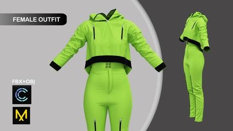 Sport Outfit Marvelous Designer/Clo3d project + OBJ + FBX