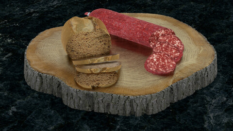 Bread and sausage