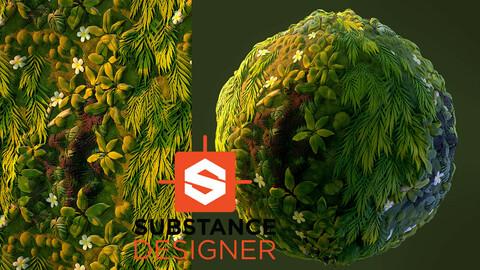 Stylized Vegetation - Substance Designer