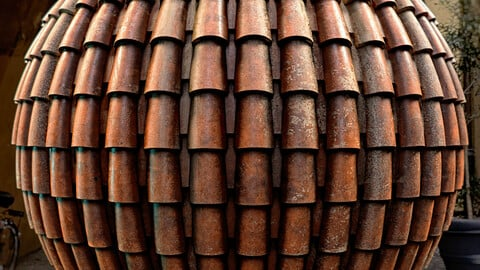 PBR - CLAY TILE ROOF - 4K MATERIAL