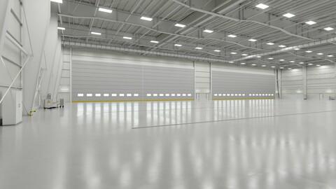 Airplane Hangar Interior 1b