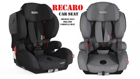 recaro baby car seat 3dasset