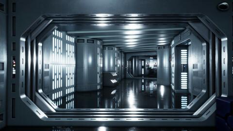 Starwars Death Star Hanger and Corridors Fan Art scenes