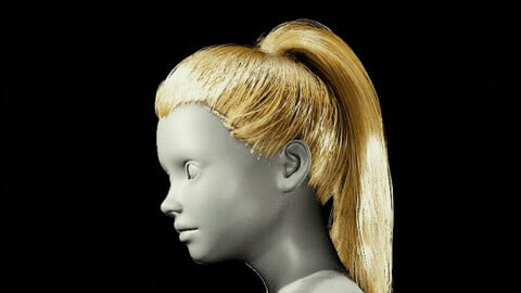 PonyTail V3 Grooming Real-Time Hairstyle Unreal Engine 4