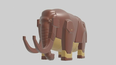 Robotic Character 03 - RC03 is Elephant Model   with Hard Surface.