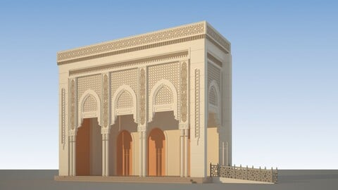 3D Entrance Mosque