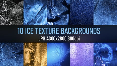 10 ice texture photo pack