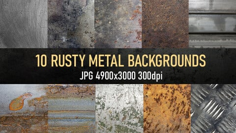 10 rusty metal texture photo pack