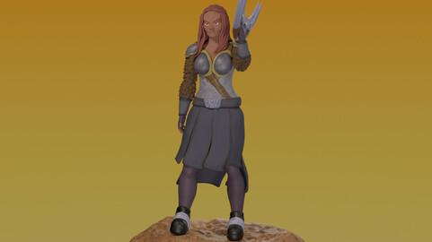 Klingon Warrior for 3D Printing