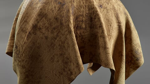 PBR - OLD STAINED FABRIC, DIRTY  - 4K MATERIAL