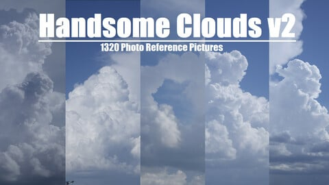 Handsome Clouds vol.2 1320 Photo Reference Pictures