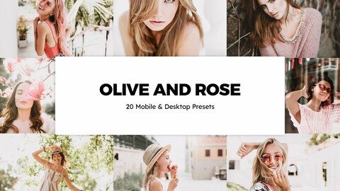 20 Olive and Rose LUTs and Lightroom Presets