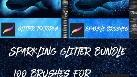 100 Glitter Brushes Bundle for Procreate