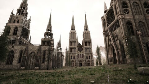 Medieval Gothic Cathedral - Modular pack
