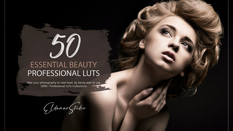 50 Essential Beauty LUTs Pack