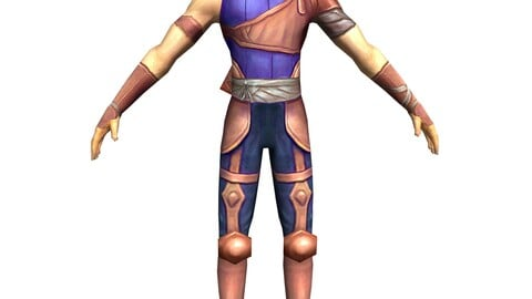 Game 3D Character - Male Archer 01