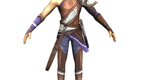 Game 3D Character - Male Archer 02