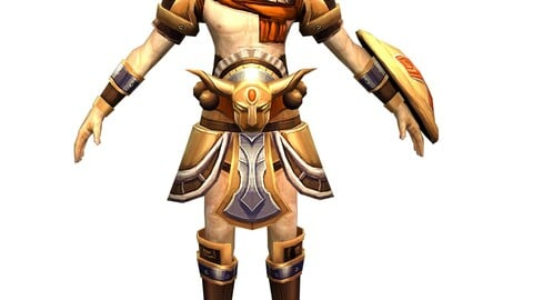 Game 3D Character - Male Warrior 3