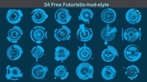 24 Free Futuristic-hud-style
